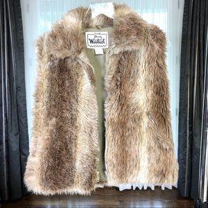 Vintage Woolrich Faux Fur Zippered Vest- Medium